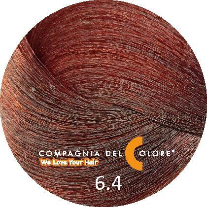 Безаммиачный краситель для волос 6/4 темный медно-коричневый 100 мл Compagnia Del Colore (CDC краска Del Color)
