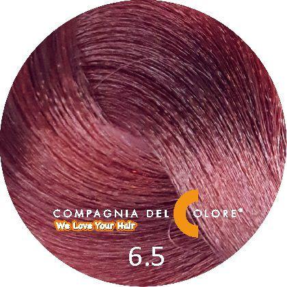 Compagnia Del Colore Стойкий краситель для волос 6/5 Темно-русый махагон 100 мл (CDC краска Del Color)