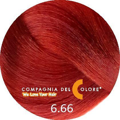 Compagnia Del Colore Стойкий краситель для волос 6/66 Темно-русый красный интенсивный 100 мл (CDC краска Del Color)