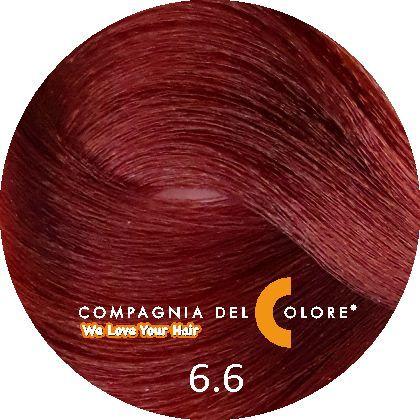 Безаммиачный краситель для волос 6/6 темно-русый красный 100 мл Compagnia Del Colore (CDC краска Del Color)