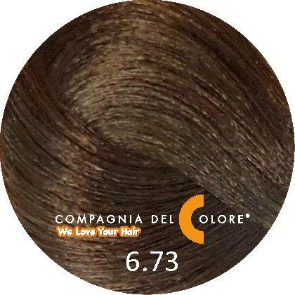Compagnia Del Colore Стойкий краситель для волос 6/73 Темно-русый орех 100 мл (CDC краска Del Color)