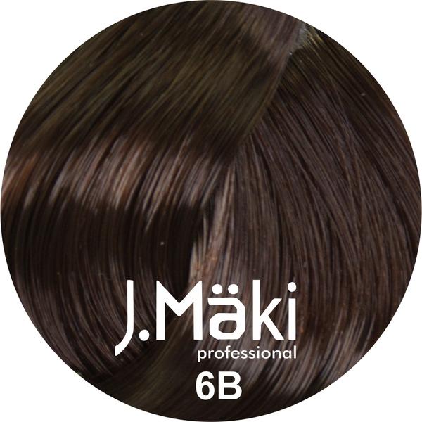 J.Maki Стойкий краситель для волос 6B Мокко 60 мл (J.Mäki Professional)