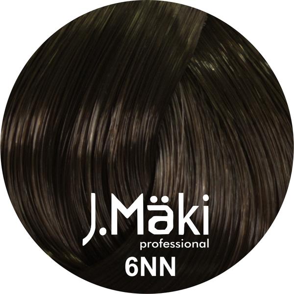 J.Maki Стойкий краситель для волос 6NN Темно-русый интенсивный 60 мл (J.Mäki Professional)