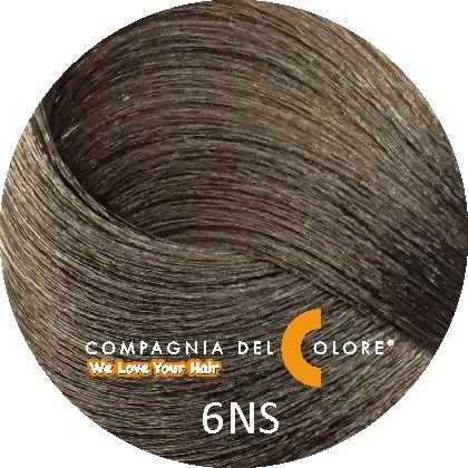 Compagnia Del Colore Стойкий краситель для волос 6 NS Саванна, темно-русый 100 мл (CDC краска Del Color)