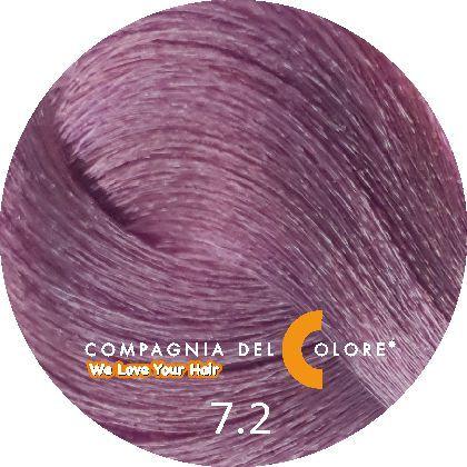 Compagnia Del Colore Стойкий краситель для волос 7/2 Средне-русый фиолетовый 100 мл (CDC краска Del Color)