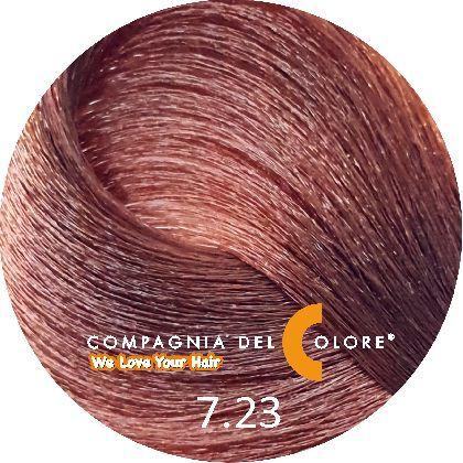 Compagnia Del Colore Стойкий краситель для волос 7/23 Средне-русый табакко 100 мл (CDC краска Del Color)