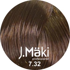 J.Maki Стойкий краситель для волос 7.32 Бежевый русый 60 мл (J.Mäki Professional)