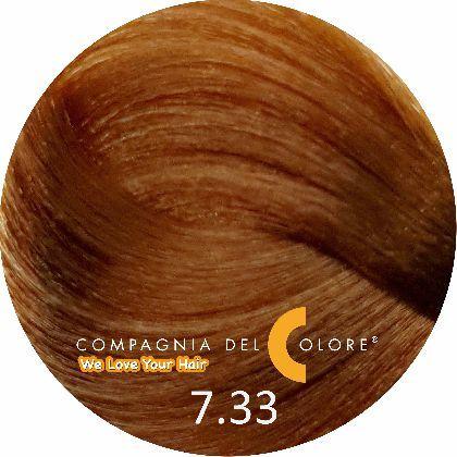 Compagnia Del Colore Стойкий краситель для волос 7/33 Средне-русый  золотой интенсивный 100 мл (CDC краска Del Color)