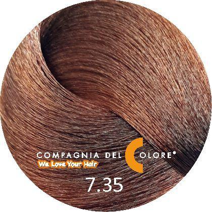 Безаммиачный краситель для волос 7/35 св. шоколадный блондин 100 мл Compagnia Del Colore (CDC краска Del Color)