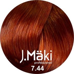 J.Maki Стойкий краситель для волос 7.44 Интенсивный медный 60 мл (J.Mäki Professional)