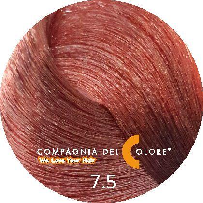 Compagnia Del Colore Стойкий краситель для волос 7/5 Махагон средне-русый 100 мл (CDC краска Del Color)