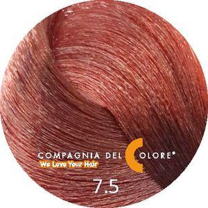 Безаммиачный краситель для волос  7/5 блондин с красным деревом 100 мл Compagnia Del Colore (CDC краска Del Color)