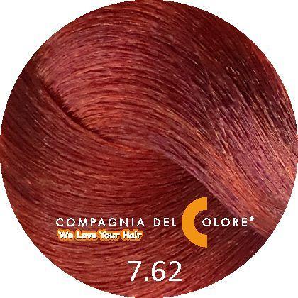 Compagnia Del Colore Стойкий краситель для волос 7/62 Средне-русый с красно-фиолетовым оттенком 100 мл (CDC краска Del Color)