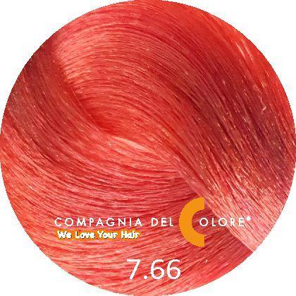 Compagnia Del Colore Стойкий краситель для волос 7/66 Средне-русый красный интенсивный  100 мл (CDC краска Del Color)