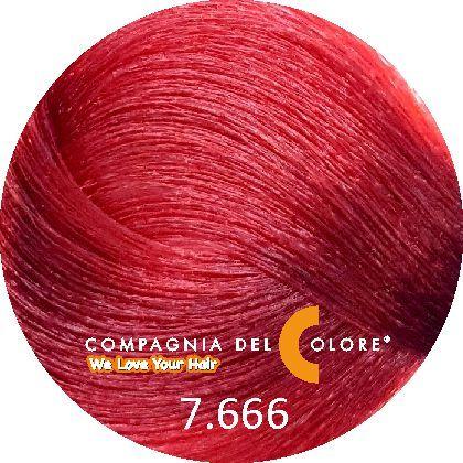 Безаммиачный краситель для волос 7/666 ср-русый кр. интенс.эк 100 мл Compagnia Del Colore (CDC краска Del Color)