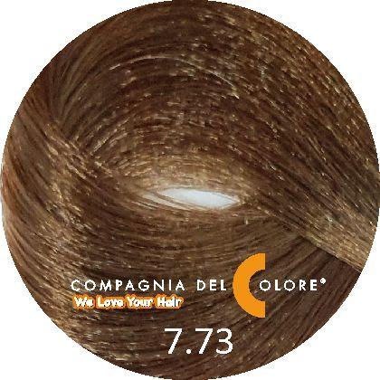Compagnia Del Colore Стойкий краситель для волос 7/73 Средне-русый орех 100 мл (CDC краска Del Color)