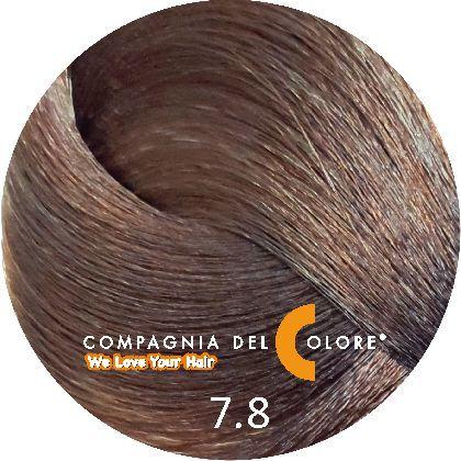 Compagnia Del Colore Стойкий краситель для волос 7/8 Средне-русый карамельный 100 мл (CDC краска Del Color)
