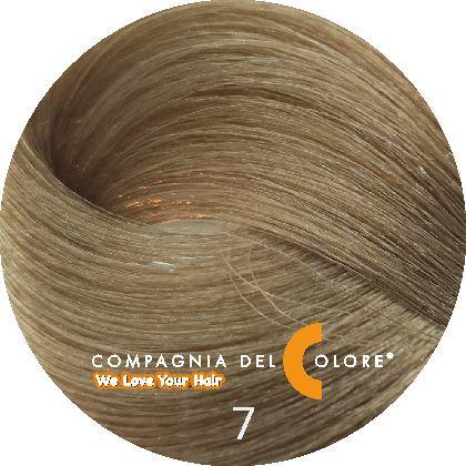 Compagnia Del Colore Стойкий краситель для волос 7 Средне-русый натуральный 100 мл (CDC краска Del Color)