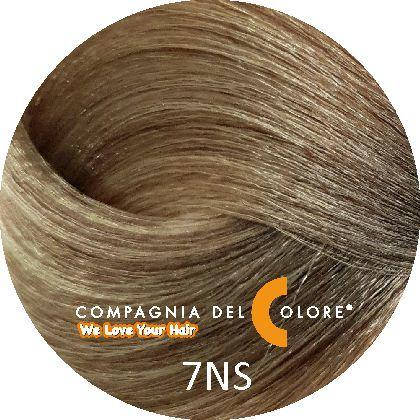 Compagnia Del Colore Стойкий краситель для волос 7 NS Саванна, средне-русый 100 мл (CDC краска Del Color)