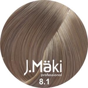 J.Maki Стойкий краситель для волос 8.1 Пепельный светло-русый 60 мл (J.Mäki Professional)