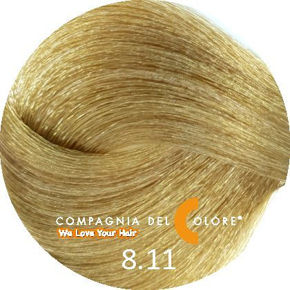 Compagnia Del Colore Стойкий краситель для волос 8/11 Светло-русый матовый 100 мл (CDC краска Del Color)
