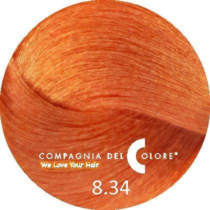 Безаммиачный краситель для волос 8/34 темный медно-зол блондин 100 мл Compagnia Del Colore (CDC краска Del Color)