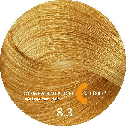 Безаммиачный краситель для волос 8/3 светло-золотой блондин 100 мл Compagnia Del Colore (CDC краска Del Color)