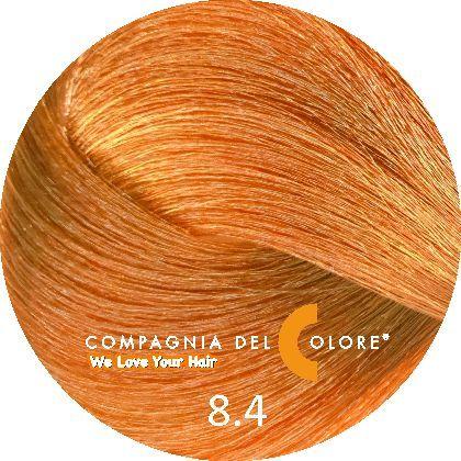 Compagnia Del Colore Стойкий краситель для волос 8/4 Светло-русый медный 100 мл (CDC краска Del Color)