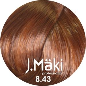 J.Maki Стойкий краситель для волос 8.43 Медно-золотистый светлый 60 мл (J.Mäki Professional)