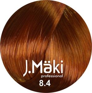 J.Maki Стойкий краситель для волос 8.4 Медный светлый 60 мл (J.Mäki Professional)