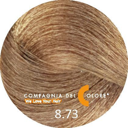 Compagnia Del Colore Стойкий краситель для волос 8/73 Светло-русый орех 100 мл (CDC краска Del Color)