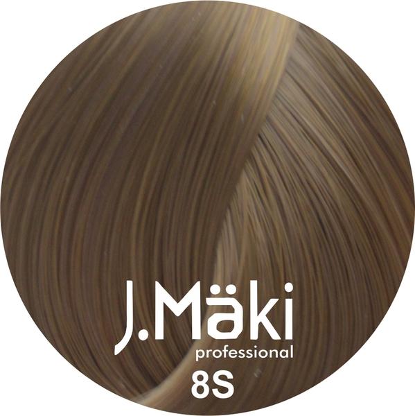 J.Maki Стойкий краситель для волос 8S Песочный светло-русый 60 мл (J.Mäki Professional)