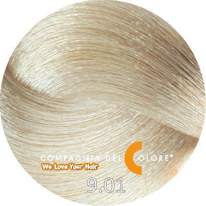 Безаммиачный краситель для волос 9/01 блондин натуральный пеп. 100 мл Compagnia Del Colore (CDC краска Del Color)