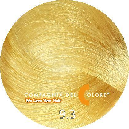 Compagnia Del Colore Стойкий краситель для волос 9/3 Блондин золотой 100 мл (CDC краска Del Color)