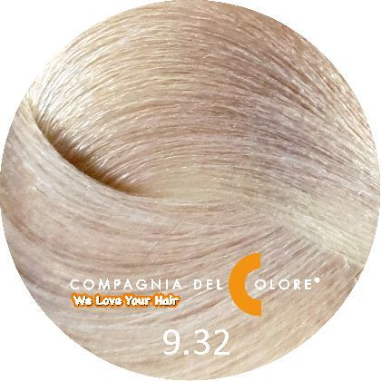 Compagnia Del Colore Стойкий краситель для волос 9/32 Блондин бежевый 100 мл (CDC краска Del Color)