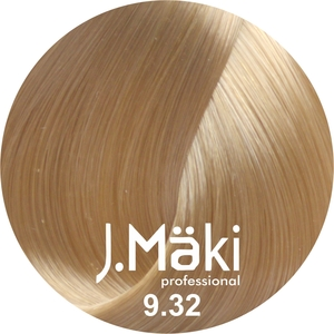 J.Maki Стойкий краситель для волос 9.32 Бежевый блондин 60 мл (J.Mäki Professional)