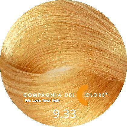 Compagnia Del Colore Стойкий краситель для волос 9/33 Блондин золотой интенсив. 100 мл (CDC краска Del Color)