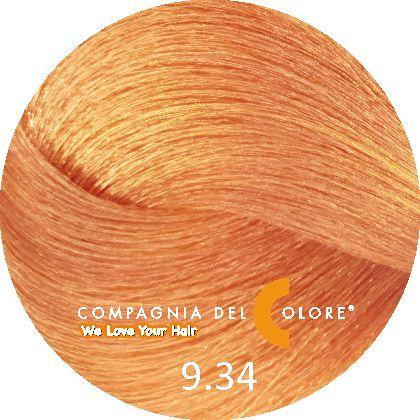 Compagnia Del Colore Стойкий краситель для волос 9/34 Блондин золотистый медный 100 мл (CDC краска Del Color)