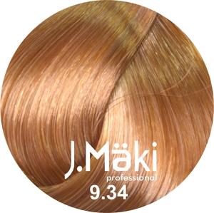 J.Maki Стойкий краситель для волос 9.34 Золотисто-медный блондин 60 мл (J.Mäki Professional)