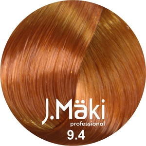 J.Maki Стойкий краситель для волос 9.4 Медный блондин 60 мл (J.Mäki Professional)