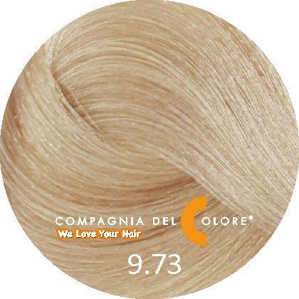 Compagnia Del Colore Стойкий краситель для волос 9/73 Блондин с оттенком ореха 100 мл (CDC краска Del Color)