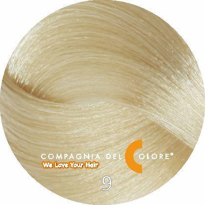 Безаммиачный краситель для волос 9 блондин натуральный 100 мл Compagnia Del Colore (CDC краска Del Color)