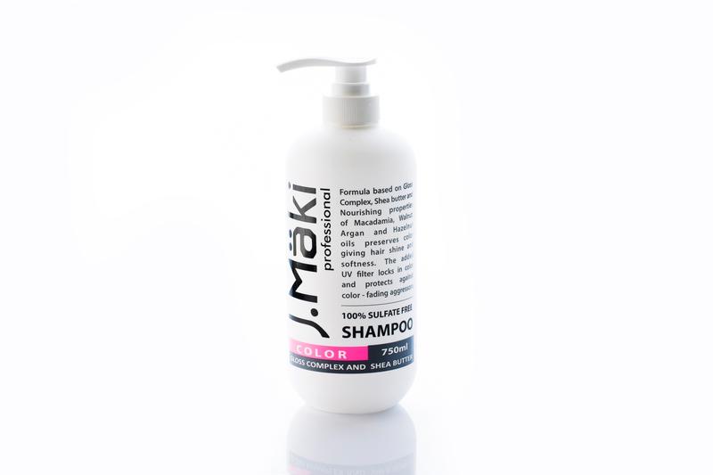 J.Maki Шампунь для окрашенных волос бессульфатный 750 мл
